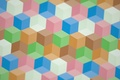 Картинка грань, краски, текстура, кубик, ребро, узор, линии