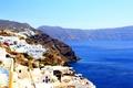 Картинка солнечно, море, белыедома, Греция, Санторини, красиво, день
