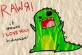 Картинка Rawя, dinosaur, love