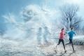 Картинка мороз, рожа, бегуны, fred perrot, зима