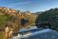 Картинка Река, плотина, дома
