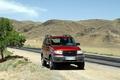 Картинка красный, горы, природа, дорога, УАЗ, Патриот, UAZ, внедорожник