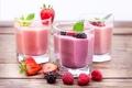 Картинка ягоды, малина, молоко, клубника, коктейль, напиток, ежевика, Strawberry, Raspberry, milk, Cocktail