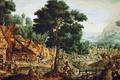 Картинка деревня, картина, жанровая, люди, Hans Bol, Life in a Flemish Village