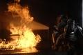 Картинка пожар, огонь, пожарные, снаряжение
