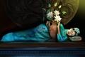 Картинка girl, lotuses, фэнтези, лотосы, девушки, fantasy