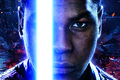 Картинка Action, Sci-Fi, Face, Boy, The, Finn, Force, Brave, Eyes, Gun, Sword, StarWars, Ruins, Fantasy, Laser, ...