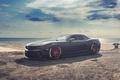 Картинка суперкар, пляж, Chevrolet Camaro