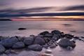 Картинка море, пейзаж, камни, закат