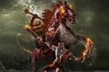 Картинка Всадник, цепь, конь, битва, god of war 2