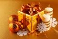 Картинка снежинки, праздник, подарок, игрушки, новый год, свечи, декорации, happy new year, christmas decoration, новогодние обои, ...