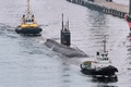 """Картинка ВМФ, дизельная, лодка, буксиры, ДЭПЛ, выход, море, подводная, """"Колпино"""", Балтика"""