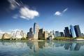 Картинка нью йорк, небоскребы, водоем, New York City, здания, город