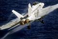 Картинка Эффект Прандтля — Глоерта, Boeing, самолет, палубный, штурмовик, F/A-18F Super Hornet, 154 эскадрилья, истребитель-бомбардировщик, США