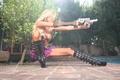 Картинка Девушка, блондинка, пистолет