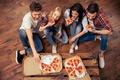 Картинка pizza, fun, friends