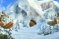 Картинка Ice age, ледниковый период, пузырь, белка, орех, мультфильм