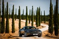 Картинка дорога, машина, авто, небо, деревья, Aston Martin, суперкар, красавец, кипарис, DB11