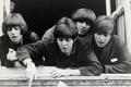 Картинка фотография, группа, The Beatles, легенда, монохром, обложка, квартет, Битлз
