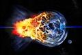 Картинка Катастрофа, планета, взрыв