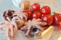 Картинка помидоры, осьминоги, моллюски, еда, овощи, черри, морепродукты