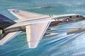 Картинка корабли, арт, North American, ВМС США, рисунок, Vigilante, A-5, авианосец