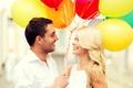 Картинка balloons, шарики, happy, любовь, romance, пара, couple, радость, счастье, воздушные шары