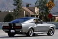 Картинка фон, знак, Mustang, Ford, GT500, Форд, Мустанг, Eleanor, вид сзади, Muscle car, Мускул кар, Элеонор