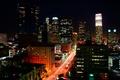 Картинка ночь, огни, здания, Лос-Анджелес, Los Angeles