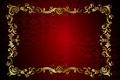 Картинка ретро, узор, vector, dark, red, golden, орнамент, vintage, texture, винтаж, background, pattern, gradient