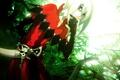 Картинка деревья, череп, демон, красные глаза, art, visual novel, kazuaki, firi, lamento