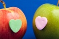 Картинка сердце, сердечко, apple, яблоко, фрукт