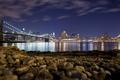 Картинка Пляж, Мост, Ночь