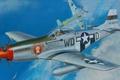 Картинка война, American, схватка, мессер, рисунок, P-51D, Aces, бф-109, Mustang