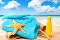 Картинка accessories, vacation, отдых, sun, beach, пляж, sea, bag, море, каникулы, summer, starfish, лето, солнце, towel