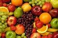 Картинка виноград, яркое, Фрукты, апельсины