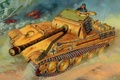 Картинка tank, ww2, painting, Pz.Kpfw. V Panther Ausf. G, war, art