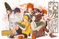 Картинка кеды, шляпа, веер, рыжий, очки, парни, art, игроки, takeshi obata, hikaru no go, fujiwara no ...