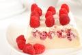 Картинка мороженое, малина, белое, десерт, сладкое, ягода