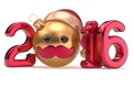 Картинка ball, Happy, Новый Год, цифры, New Year, 2016, smiley
