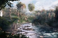 Картинка Горы, скалы, река, лес, острова