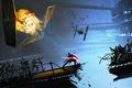 Картинка космические, корабли, сражение, взрывы, звёздные, войны, солдаты