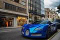 Картинка Chrome, blue, bugatti, veyron, гиперкар, бугатти, вейрон, синий, хром