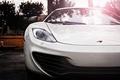 Картинка McLaren, MP4-12C, supercar, белый, суперкар, дождь, white, макларен, rain, капли