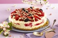 Картинка торт, cream, blackberries, food, cake, десерт, dessert, сладкое, raspberries, strawberries, малина, крем, клубника, fruits, cheesecake, ...