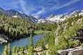 Картинка горы, Little Lakes Valley, California, John Muir Wilderness, Long Lake, озеро, Калифорния, лес