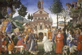 Картинка религия, Три Искушения Христа, мифология, Сандро Боттичелли, картина