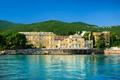 Картинка горы, Хорватия, дома, деревья, берег, Opatija