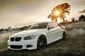Картинка Белая, Coupe, БМВ, Диски, Поле, Купе, E92, Тюнинг, Deep Concave, Трава, BMW, Е92
