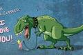 Картинка love, любовь, слюни, динозавр, Девочка